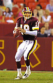 Washington Redskins quarterback Sage Rosenfels (18) in action during the preseason game against the Atlanta Falcons at FedEx Field in Landover, Maryland on August 17, 2001.  The Falcons won the game 27 - 6.<br /> Credit: Arnie Sachs / CNP
