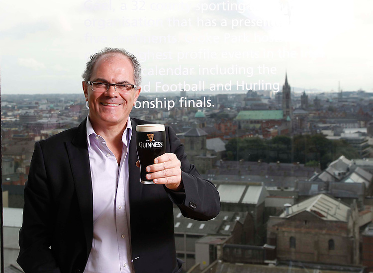 No Repro Fee..GET THE ROYAL TREATMENT AT GUINNESS STOREHOUSE .Pictured here is Guinness Master Brewer, Fergal Murray at the home of Guinness.  The Guinness Storehouse, Ireland's number one international visitor attraction, will celebrate Arthur's Day, Thursday 22 September 2011, by offering complimentary 'upgraded experiences' to lucky visitors on the day including a 'Pint Pouring Master Class' with the Master Brewer, the chance to enjoy a Guinness with a member of the Guinness Family, a specially commissioned 'Guinness Connoisseur Tour' or vouchers to savour a complimentary lunch at the attraction's new food experience, FIVE.  In addition, the 1,759th visitor on the day will receive two tickets to the Arthur's Day celebrations in the Hopstore at St. James's Gate Brewery, which take place later that evening at 17:59. .Pic: Robbie Reynolds/CPR.