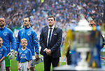 St Johnstone v Dundee United....17.05.14   William Hill Scottish Cup Final<br /> Tommy Wright looks over at the Scottish Cup as the teams line up prior to kick off<br /> Picture by Graeme Hart.<br /> Copyright Perthshire Picture Agency<br /> Tel: 01738 623350  Mobile: 07990 594431