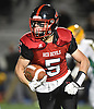 Luke Lombardi #5 of Plainedge rushes for a gain during the first quarter of the Nassau County football Conference III semifinals against Lynbrook at Shuart Stadium in Hempstead on Saturday, Nov. 10, 2018.