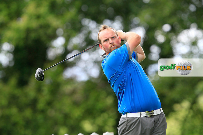 Simon Bryan (Delgany) on the 8th tee during round 1 of The Mullingar Scratch Cup in Mullingar Golf Club on Sunday 3rd August 2014.<br /> Picture:  Thos Caffrey / www.golffile.ie