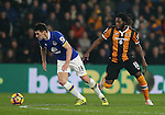 Gareth Barry of Everton and Dieumerci Mbokani of Hull City during the English Premier League match at the KCOM Stadium, Kingston Upon Hull. Picture date: December 30th, 2016. Pic Simon Bellis/Sportimage