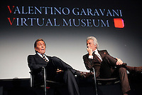 Opening ceremony of the Valentino Garavani Virtual Museum at the Museum of Modern Art in New York December 5, 2011..