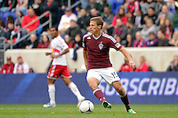 Wells Thompson (15) of the Colorado Rapids. The New York Red Bulls defeated the Colorado Rapids 4-1 during a Major League Soccer (MLS) match at Red Bull Arena in Harrison, NJ, on March 25, 2012.