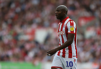 Stoke City's Benik Afobe <br /> <br /> Photographer Stephen White/CameraSport<br /> <br /> The EFL Sky Bet Championship - Stoke City v Queens Park Rangers - Saturday 3rd August 2019 - bet365 Stadium - Stoke-on-Trent<br /> <br /> World Copyright © 2019 CameraSport. All rights reserved. 43 Linden Ave. Countesthorpe. Leicester. England. LE8 5PG - Tel: +44 (0) 116 277 4147 - admin@camerasport.com - www.camerasport.com