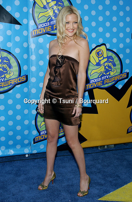 Kate Hudson at the MTV Movie Awards at the Shrine Auditorium in Los Angeles. May 31, 2003