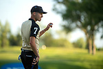 SUGAR GROVE, IL - MAY 29: Matthias Schwab of Vanderbilt University sinks a putt on the 18th green during the Division I Men's Golf Individual Championship held at Rich Harvest Farms on May 29, 2017 in Sugar Grove, Illinois. Schwab tied for third place with a -6 score. (Photo by Jamie Schwaberow/NCAA Photos via Getty Images)