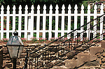 Metal Wood Fence stairs with light Waterford Commonwealth of Virginia, Fine Art Photography by Ron Bennett, Fine Art, Fine Art photography, Art Photography, Copyright RonBennettPhotography.com ©