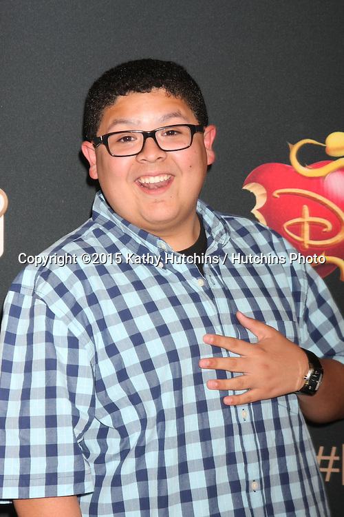 "LOS ANGELES - JUL 24:  Rico Rodriguez at the ""Descendants"" Premiere Screening at the Walt Disney Studios on July 24, 2015 in Burbank, CA"