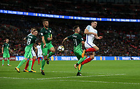 Gary Cahill of England goes close in the first half<br /> <br /> Photographer Rob Newell/CameraSport<br /> <br /> FIFA World Cup Qualifying - European Region - Group F - England v Slovenia - Thursday 5th October 2017 - Wembley Stadium - London<br /> <br /> World Copyright &copy; 2017 CameraSport. All rights reserved. 43 Linden Ave. Countesthorpe. Leicester. England. LE8 5PG - Tel: +44 (0) 116 277 4147 - admin@camerasport.com - www.camerasport.com