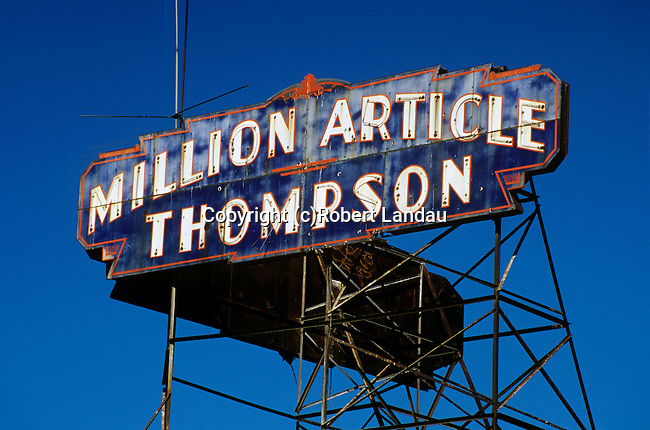 Million Article Thompson sign,  South Central Los Angeles, 1982