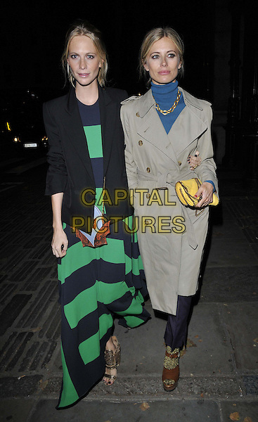 LONDON, ENGLAND - SEPTEMBER 14: Poppy Delevingne &amp; Laura Bailey attend the Jonathan Saunders S/S15 catwalk show, LFW Day 3, British Museum, Great Russell St., on Sunday September 14, 2014 in London, England, UK. <br /> CAP/CAN<br /> &copy;Can Nguyen/Capital Pictures