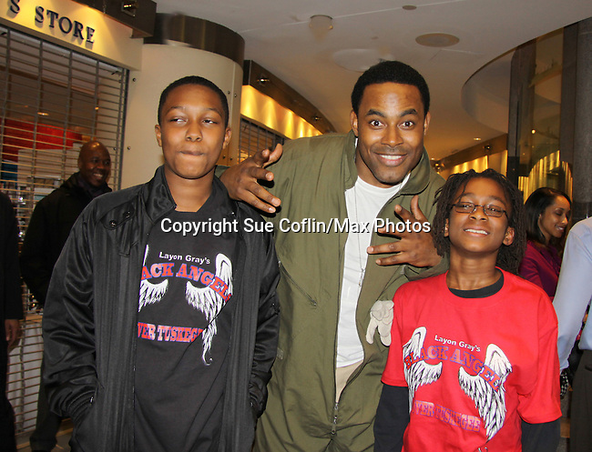 Lamman Rucker and the kids - Layon Gray's Black Angels Over Tuskegee was performed on February 25, 2011 at the United States Memorial in Washington, DC to celebrate Black History Month. (Photo by Sue Coflin/Max Photos)