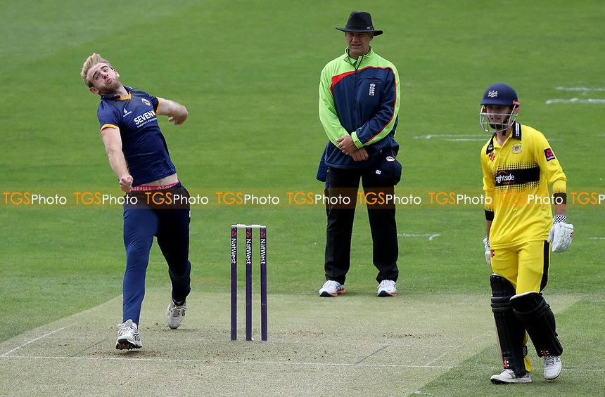 Paul Walter in bowling action during Essex CCC 2nd XI vs Gloucestershire CCC 2nd XI, Second XI T20 Cricket at The Cloudfm County Ground on 5th June 2017