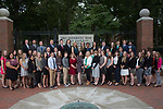 Cutler Scholars pose for a group photo in front of College Gate on September 8, 2017.