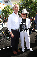 LOS ANGELES, CA -APRIL 7: Congressman Adam Schiff, Lily Tomlin, at Grand Opening Of The Los Angeles LGBT Center's Anita May Rosenstein Campus at Anita May Rosenstein Campus in Los Angeles, California on April 7, 2019.<br /> CAP/MPIFS<br /> ©MPIFS/Capital Pictures