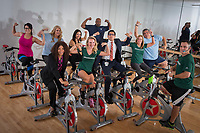 The crew at USAA works together and works out together.