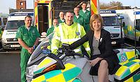 Nicola Sturgeon: new ambulance station
