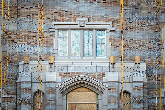 March 10, 2017; Jenkins Hall under construction (Photo by Matt Cashore/University of Notre Dame)