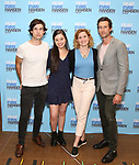 Marrick Smith, Maggie McKenna, Christiane Noll and Aaron Lazar attends the National Tour Photo Call for 'Dear Evan Hansen' on September 6, 2018 at the New 42nd Street Studios in New York City.