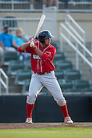 Damek Tomscha (14) of the Lakewood BlueClaws at bat against the Kannapolis Intimidators at Kannapolis Intimidators Stadium on May 10, 2016 in Kannapolis, North Carolina.  The BlueClaws defeated the Intimidators 5-3.  (Brian Westerholt/Four Seam Images)
