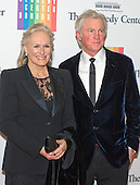 Glenn Close and David Shaw arrive for the formal Artist's Dinner honoring the recipients of the 2013 Kennedy Center Honors hosted by United States Secretary of State John F. Kerry at the U.S. Department of State in Washington, D.C. on Saturday, December 7, 2013. The 2013 honorees are: opera singer Martina Arroyo; pianist,  keyboardist, bandleader and composer Herbie Hancock; pianist, singer and songwriter Billy Joel; actress Shirley MacLaine; and musician and songwriter Carlos Santana.<br /> Credit: Ron Sachs / CNP