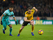 11th February 2019, Molineux, Wolverhampton, England; EPL Premier League football, Wolverhampton Wanderers versus Newcastle United; Diogo Jota of Wolverhampton Wanderers gets away from Deandre Yedlin of Newcastle United
