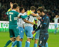 la delusione di  Gonzalo Higuain  durante l'incontro di ritorno della semifinale  Tim Cup tra     Napoli - Lazio allo  Stadio San Paolo  di Napoli ,08 Aprile  2015