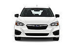 Car photography straight front view of a 2017 Subaru Impreza CVT 5 Door Hatchback Front View