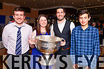 Enjoying the atmosphere at the St Marys Dinner Dance in the Ring of Kerry Hotel on Saturday were l-r; Mark Quigley, Marion Cournane, Bryan Sheehan & Muiris Fitzgerald.