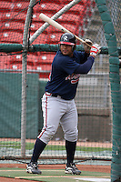 Richmond Braves Brayan Pena during an International League game at Dunn Tire Park on April 21, 2006 in Buffalo, New York.  (Mike Janes/Four Seam Images)