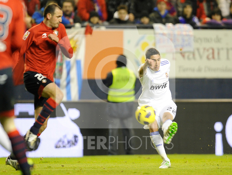 Spanish league match Osasuna vs Real Madrid. Angel Di Maria. ..Photo : Ricardo Ordonez / ALFAQUI.