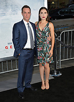 Billy Slaughter &amp; Alix Angelis at the premiere for &quot;Geostorm&quot; at TCL Chinese Theatre, Hollywood. Los Angeles, USA 16 October  2017<br /> Picture: Paul Smith/Featureflash/SilverHub 0208 004 5359 sales@silverhubmedia.com
