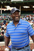Lee Smith before throwing out the ceremonial first pitch during the Under Armour All-American Game on August 16, 2014 at Wrigley Field in Chicago, Illinois.  (Mike Janes/Four Seam Images)