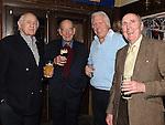 Ray McLytham, Ken Watson, Fergus Slattery and Noel Traynor at Eddie Thornton's 75th birthday in The Cottage Inn Laytown. Photo:Colin Bell/pressphotos.ie