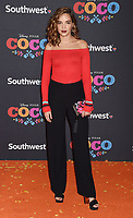 LOS ANGELES, CA - NOVEMBER 08: Actor Georgie Flores arrives at the premiere of Disney Pixar's 'Coco' at El Capitan Theatre on November 8, 2017 in Los Angeles, California.<br /> CAP/ROT/TM<br /> &copy;TM/ROT/Capital Pictures