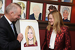 Max Klimavicius and Laura Linney attend the portrait unveilings of Laura Linney and Cynthia Nixon starring on Broadway in the Manhattan Theatre Club's THE LITTLE FOXES, at Sardi's on June 29, 2017 in New York City.