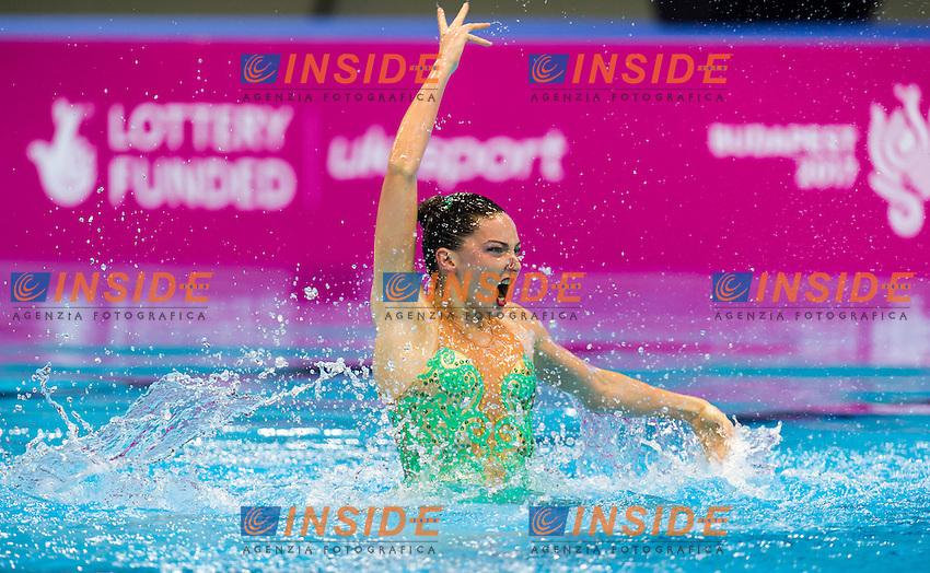 FEDERICI Olivia GBR<br /> London, Queen Elizabeth II Olympic Park Pool <br /> LEN 2016 European Aquatics Elite Championships <br /> Synchro<br /> Solo free final <br /> Day 02 10-05-2016<br /> Photo Giorgio Perottino/Deepbluemedia/Insidefoto