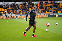 7th March 2020; Molineux Stadium, Wolverhampton, West Midlands, England; English Premier League, Wolverhampton Wanderers versus Brighton and Hove Albion; Willy Boly of Wolverhampton Wanderers warms-up prior to the match