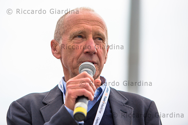 08/05/2016 - Renato Bertrandi Presidente ETU, 2016 Cagliari ITU Triathlon World Cup