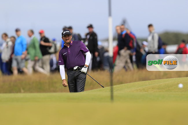 Graeme McDOWELL (NIR) chips onto the 16th green during Sunday's Round  of the 144th Open Championship, St Andrews Old Course, St Andrews, Fife, Scotland. 19/07/2015.<br /> Picture Eoin Clarke, www.golffile.ie
