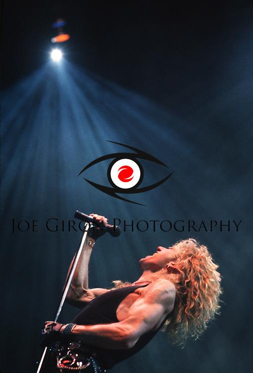 Various live photographs of the rock band, Whitesnake