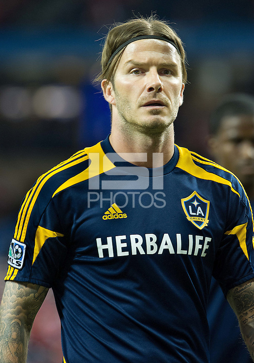 07 March 2012: LA Galaxy midfielder David Beckham #23 in action during the warm-up in a CONCACAF Champions League game between the LA Galaxy and Toronto FC at the Rogers Centre in Toronto..The game ended in a 2-2 draw.