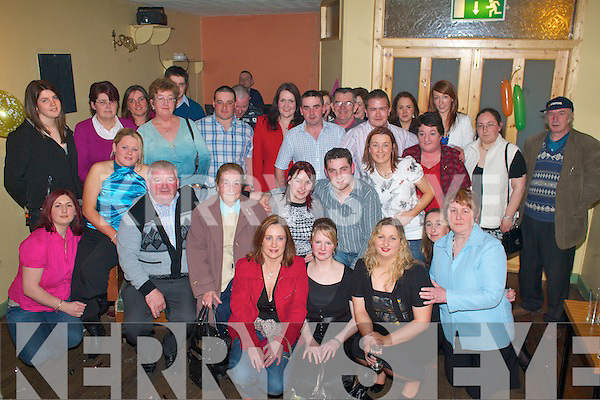 Denise Murphy Ardraw, Beaufort (seated centre) who celebrated her 21st birthday in Sheehan's bar Killorglin on Friday night..   Copyright Kerry's Eye 2008