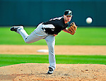 8 March 2010: Florida Marlins' pitcher Chris Leroux in action during a Spring Training game against the Washington Nationals at Space Coast Stadium in Viera, Florida. The Marlins defeated the Nationals 12-2 in Grapefruit League action. Mandatory Credit: Ed Wolfstein Photo