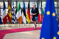 La Premi&egrave;re ministre du Royaume-Uni Theresa May lors du Sommet Europ&eacute;en &agrave; Bruxelles.<br /> Belgique, Bruxelles, 22 juin 2017.<br /> Prime Minister of the United Kingdom Theresa May attends the European Council in Brussels.<br /> Belgium, Brussels, 22 June, 2017.