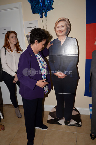 BOCA RATON, FL - OCTOBER 23: Former U.S. Secretary of State Madeleine Albright and former Mayor of West Palm Beach Lois Frankel to Campaigns at the Boca Raton Coordinated Campaign Office,  Encouraging Floridians to Vote Early for Hillary Clinton on October 23, 2016 in Boca Raton, Florida<br /> <br /> <br /> People:  Lois Frankel<br /> <br /> Transmission Ref:  FLXX<br /> <br /> Hoo-Me.com / MediaPunch