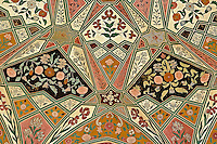Ceiling details, Amber Fort, Jaipur, India