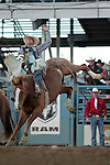 Steven Anding competes in the bareback bronc riding event at the Reno Rodeo, in Reno, Nev. on Friday night, June 22, 2012..Photo by Cathleen Allison