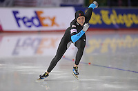 SCHAATSEN: CALGARY: Olympic Oval, 08-11-2013, Essent ISU World Cup, 500m, Heather Richardson (USA), ©foto Martin de Jong
